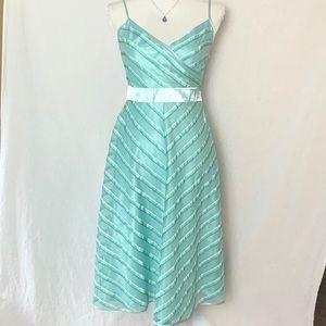 Betsey Johnson Blue Spaghetti Strap Dress Size 6